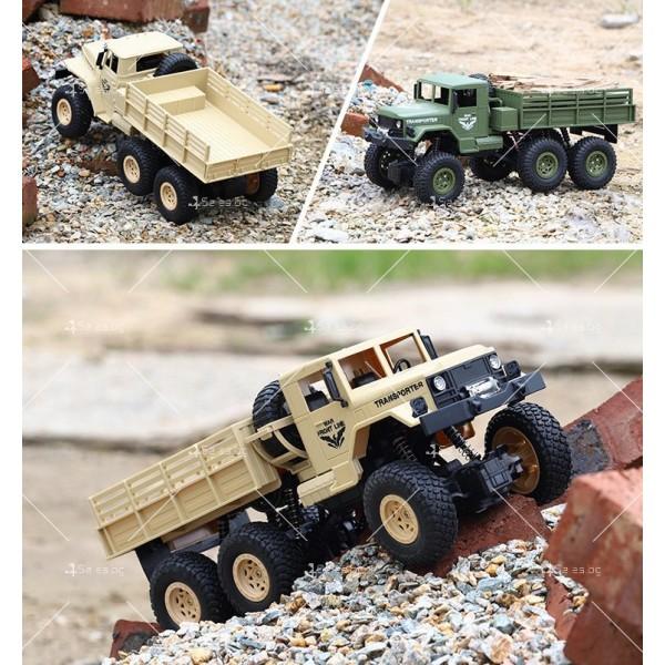 Реалистичен детски военен камион с дистанционно управление JJRC - TOY CAR30 10