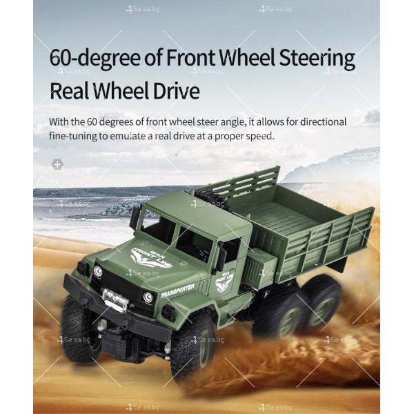 Реалистичен детски военен камион с дистанционно управление JJRC - TOY CAR30 12