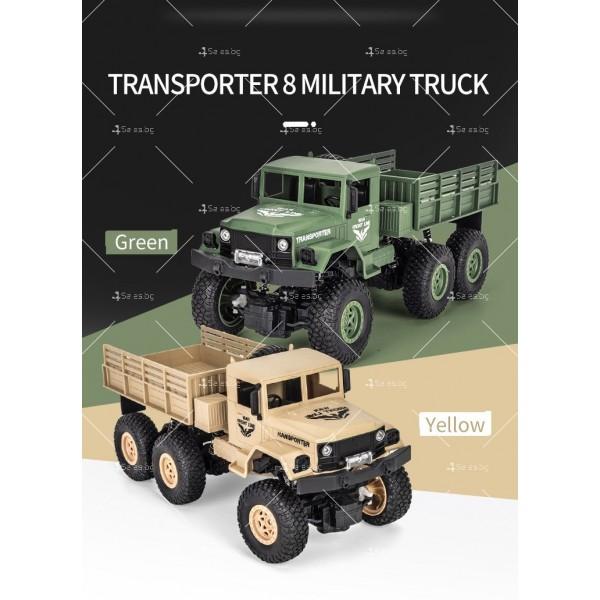 Реалистичен детски военен камион с дистанционно управление JJRC - TOY CAR30 18
