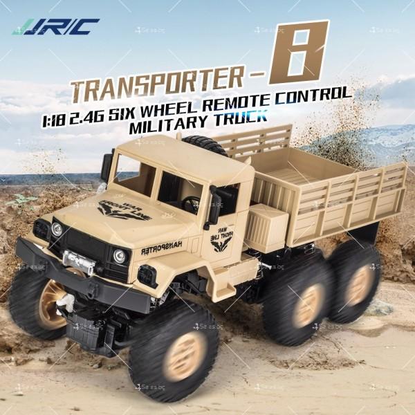 Реалистичен детски военен камион с дистанционно управление JJRC - TOY CAR30 2