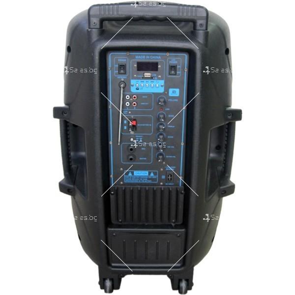 Музикална караоке колона с 15-инчов говорител и 2 безжични микрофона ES-F15 2