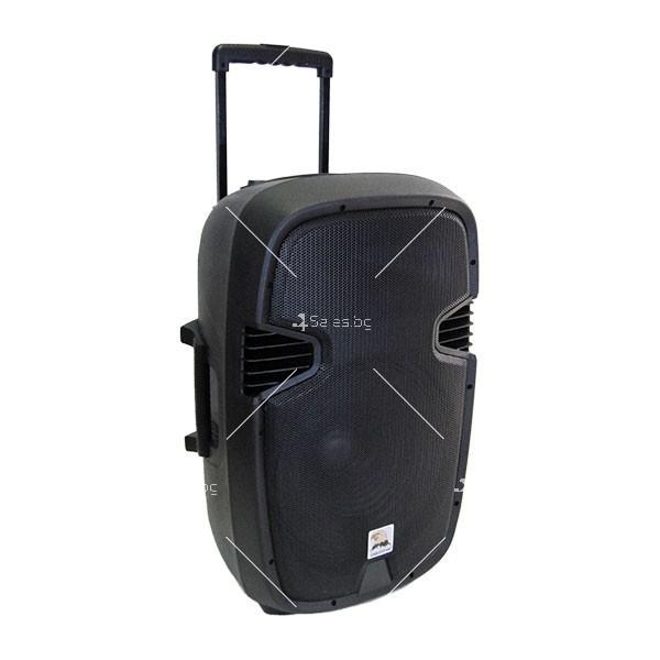 Музикална караоке колона с 15-инчов говорител и 2 безжични микрофона ES-F15 3