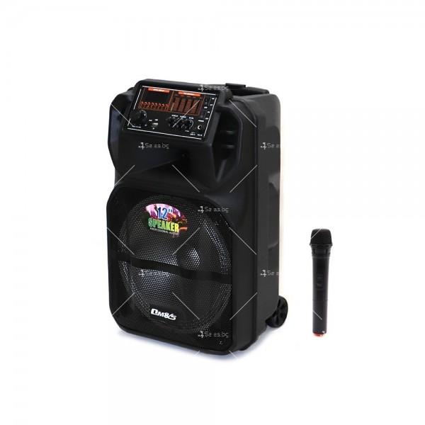 Преносима Bluetooth колона с Wireless микрофон за караоке OM-J12