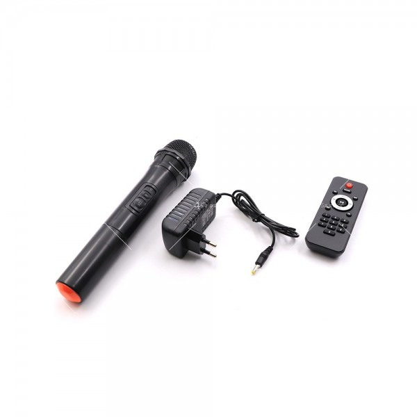 Преносима Bluetooth колона с Wireless микрофон за караоке OM-J12 4