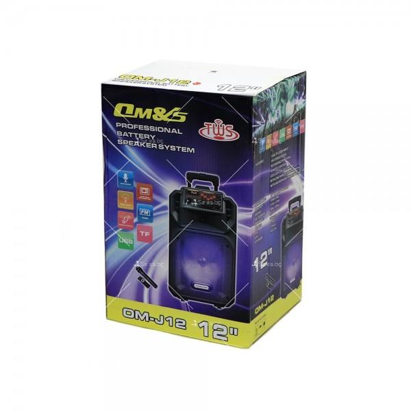 Преносима Bluetooth колона с Wireless микрофон за караоке OM-J12 5