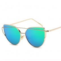 Дамски слънчеви очила с метална рамка и огледални стъкла