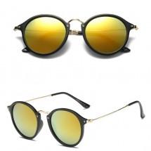Дамски модни слънчеви очила с рамка от метал и пластмаса с кръгли стъкла