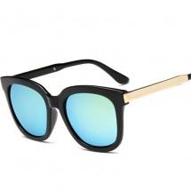 Дамски слънчеви очила с огледални стъкла тип котешки очи