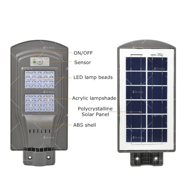 Соларна улична/ външна LED лампа CLAMP SS09 H LED38 11