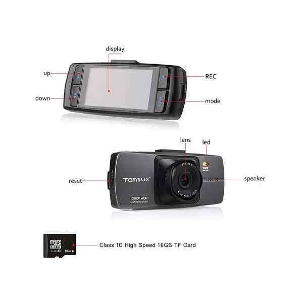 Tonbux V8 видеорегистратор за кола с 16GB карта памет AV out HDMI USB -12Mpx 2