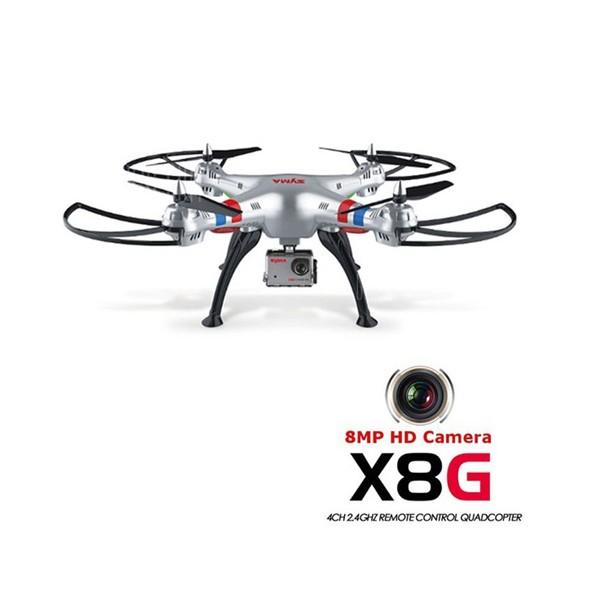Квадрокоптер Syma X8G 4CH с 8mpx HD камера HeadLess режим RC IOC, LED 2