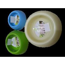 Кръгла пластмасова купичка за храна за домашни любимци LBF7