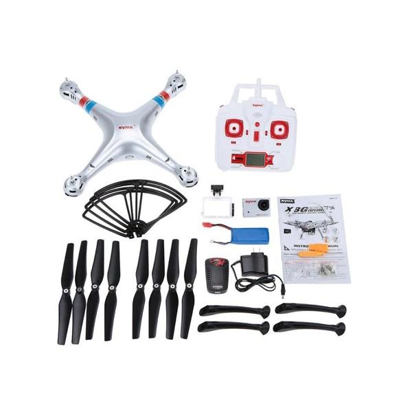Квадрокоптер Syma X8G 4CH с 8mpx HD камера HeadLess режим RC IOC, LED 17