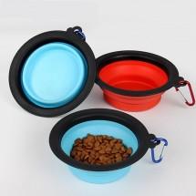 Кръгла метална купа с дръжки за храна за домашни любимци LBF9