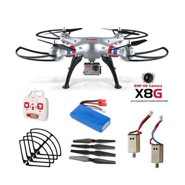 Квадрокоптер Syma X8G 4CH с 8mpx HD камера HeadLess режим RC IOC, LED 19