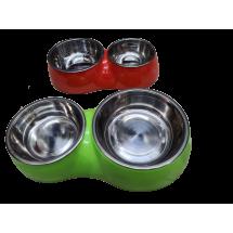 Двойна метална купа за храна за домашни любимци LBF12