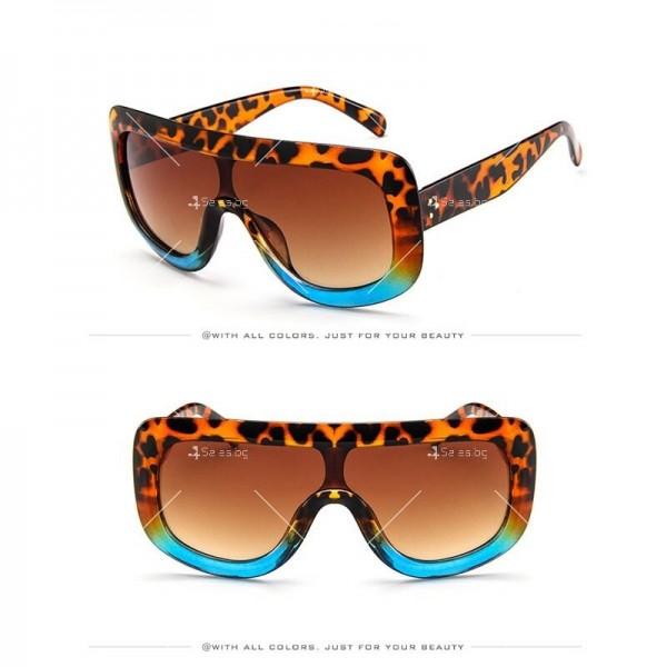 Луксозни дамски слънчеви очила с голяма рамка 3