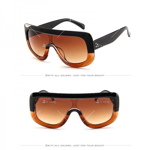 Луксозни дамски слънчеви очила с голяма рамка 4
