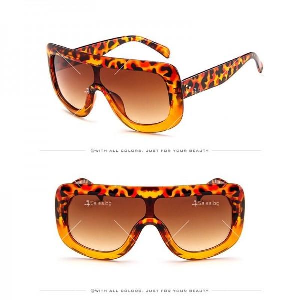 Луксозни дамски слънчеви очила с голяма рамка 5