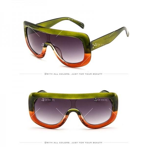 Луксозни дамски слънчеви очила с голяма рамка 6
