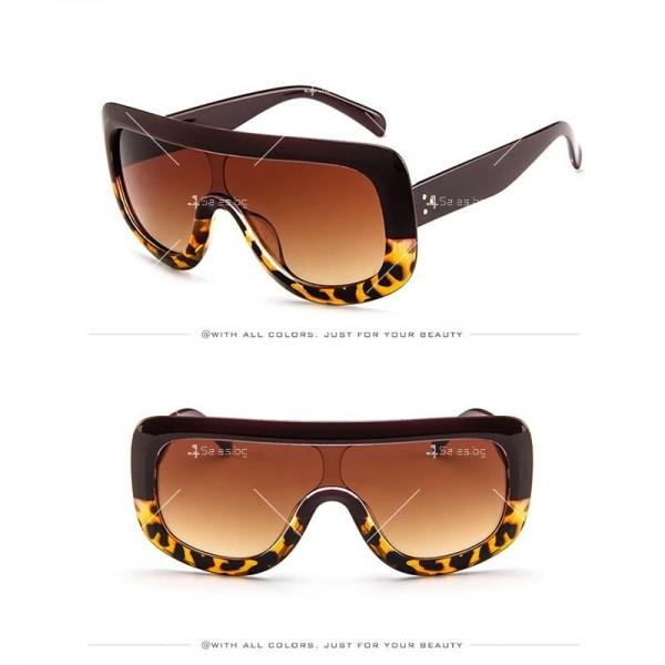 Луксозни дамски слънчеви очила с голяма рамка 7