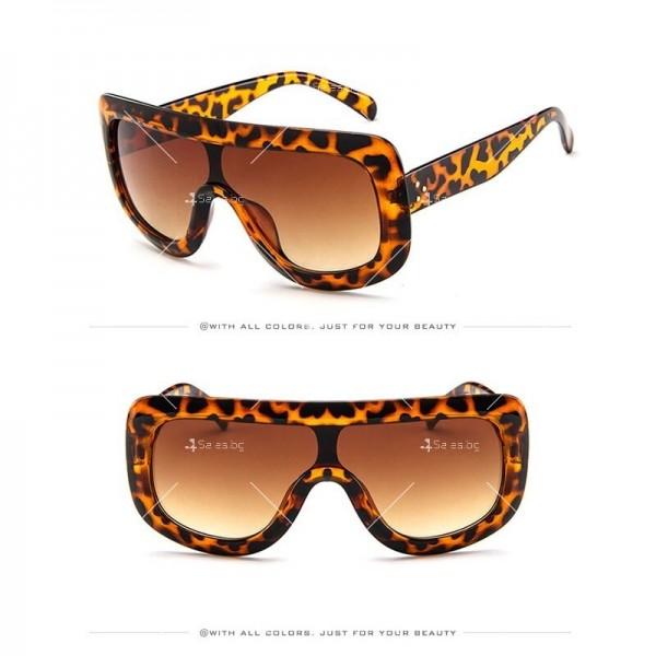 Луксозни дамски слънчеви очила с голяма рамка 8