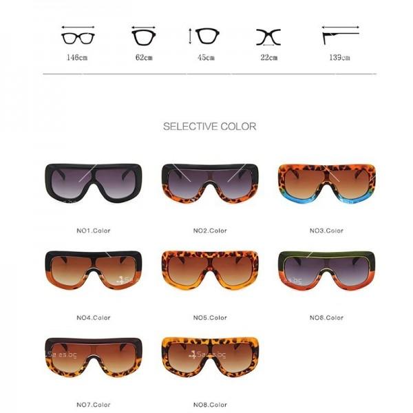Луксозни дамски слънчеви очила с голяма рамка 9