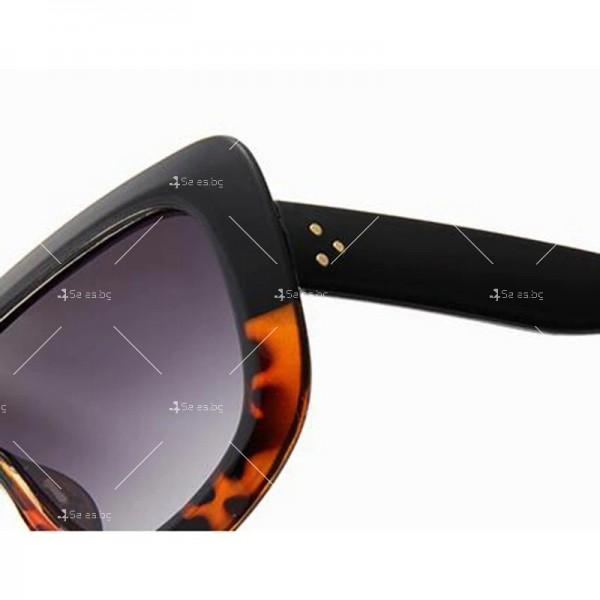 Луксозни дамски слънчеви очила с голяма рамка 10