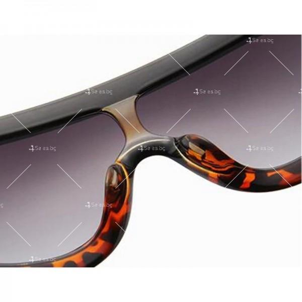 Луксозни дамски слънчеви очила с голяма рамка 11