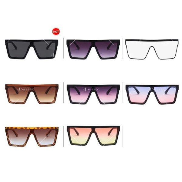 Дамски слънчеви oversized очила в квадратна форма 10