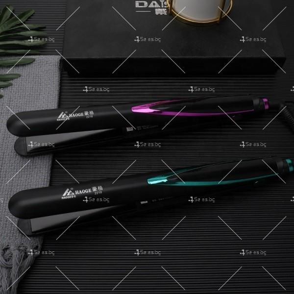 Професионална преса за изправяне на коса с турмалинови керамични плочи TV667 1