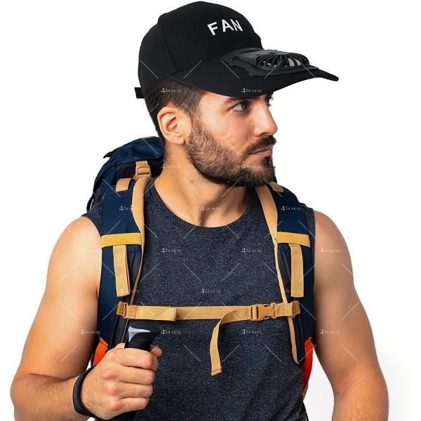 Комбинирана бейзболна шапка с вентилатор подходяща за мъже и жени CAP2 1