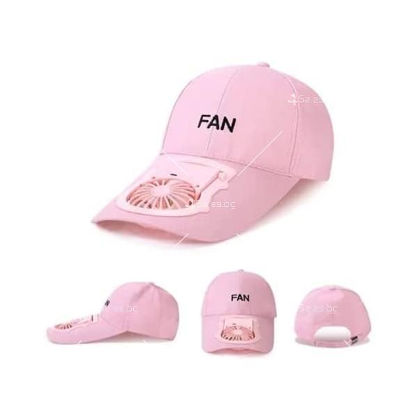 Комбинирана бейзболна шапка с вентилатор подходяща за мъже и жени CAP2 3