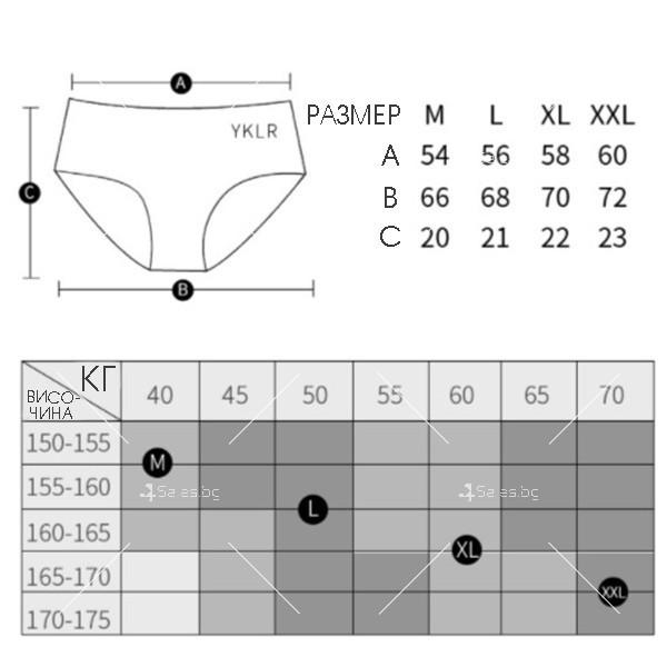 Дамски антибактериални бикини тип боксер NY18 1