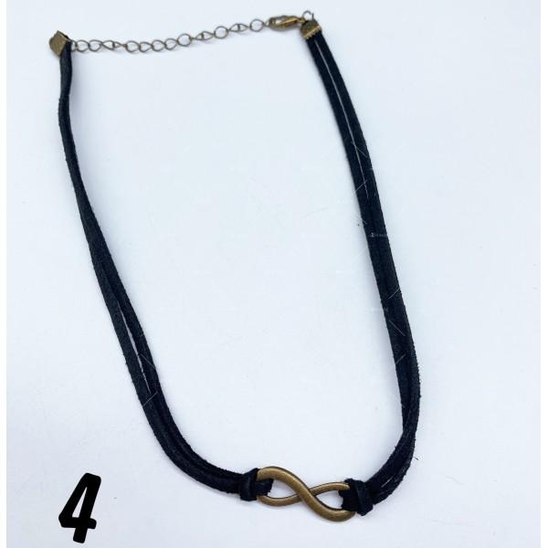 Черен гердан с висулка , закопчаване омар - D105 7