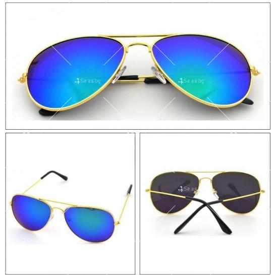 Елегантни унисекс очила с огледални стъкла в различни цветове YJ82