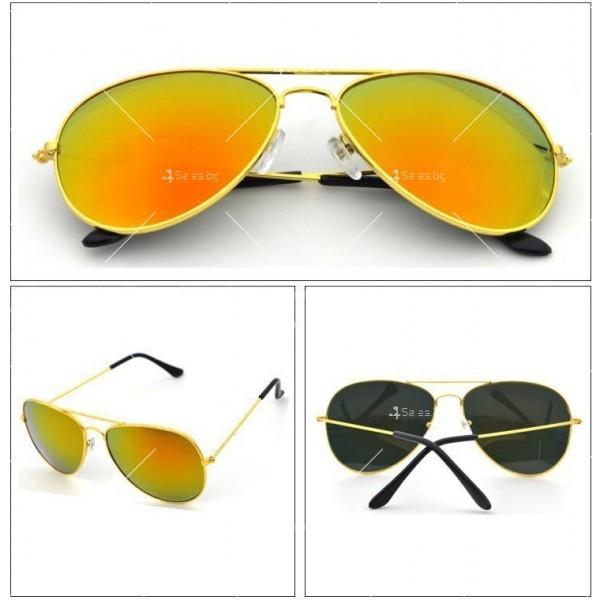 Елегантни унисекс очила с огледални стъкла в различни цветове YJ82 4