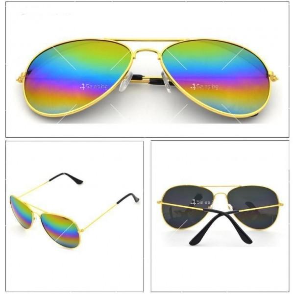Елегантни унисекс очила с огледални стъкла в различни цветове YJ82 7