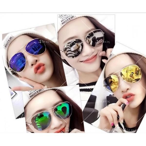 Елегантни унисекс очила с огледални стъкла в различни цветове YJ82 10