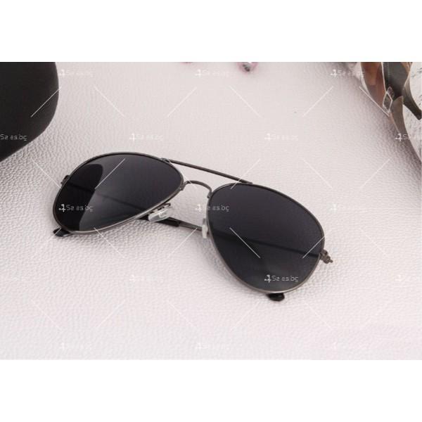 """Дамски очила тип """"Авиатор"""" с огледални стъкла в различни цветове YJ84 2"""