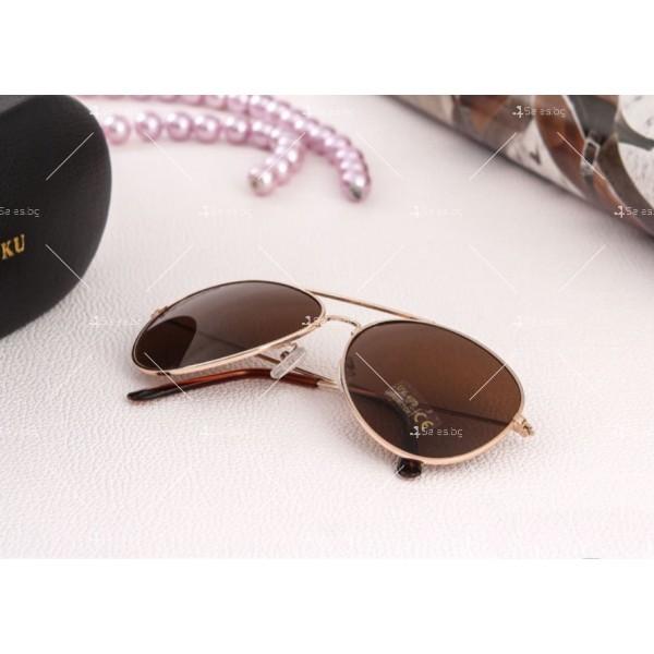 """Дамски очила тип """"Авиатор"""" с огледални стъкла в различни цветове YJ84 3"""