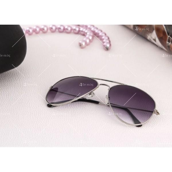 """Дамски очила тип """"Авиатор"""" с огледални стъкла в различни цветове YJ84 4"""