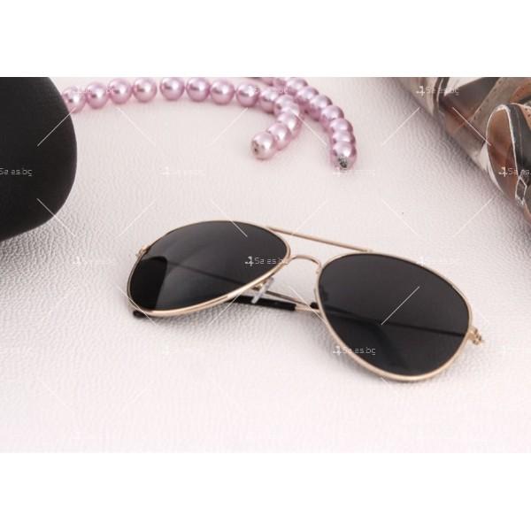 """Дамски очила тип """"Авиатор"""" с огледални стъкла в различни цветове YJ84 5"""