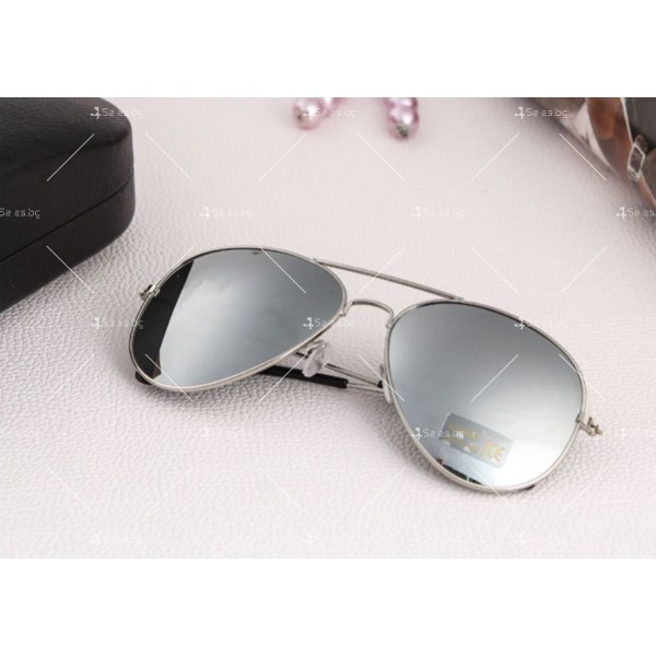 """Дамски очила тип """"Авиатор"""" с огледални стъкла в различни цветове YJ84 6"""