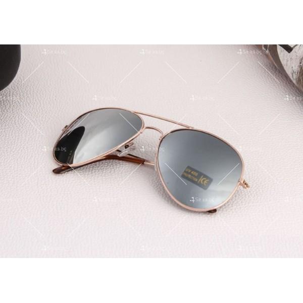 """Дамски очила тип """"Авиатор"""" с огледални стъкла в различни цветове YJ84 7"""