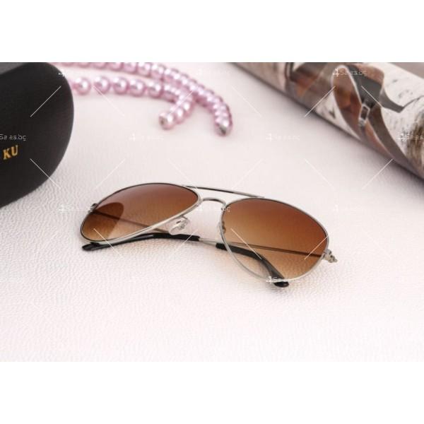 """Дамски очила тип """"Авиатор"""" с огледални стъкла в различни цветове YJ84 8"""
