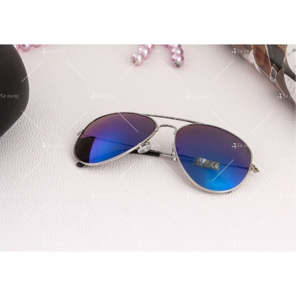 """Дамски очила тип """"Авиатор"""" с огледални стъкла в различни цветове YJ84 10"""