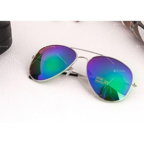 """Дамски очила тип """"Авиатор"""" с огледални стъкла в различни цветове YJ84 11"""