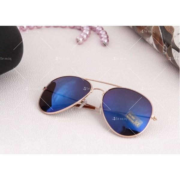 """Дамски очила тип """"Авиатор"""" с огледални стъкла в различни цветове YJ84 13"""