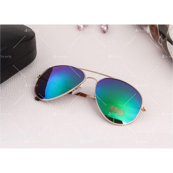 """Дамски очила тип """"Авиатор"""" с огледални стъкла в различни цветове YJ84 14"""